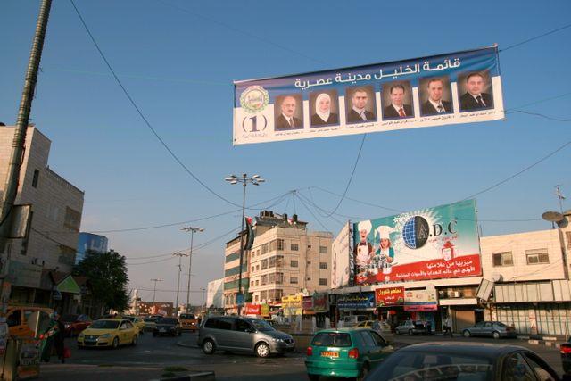 Campagne electorale à Hebron