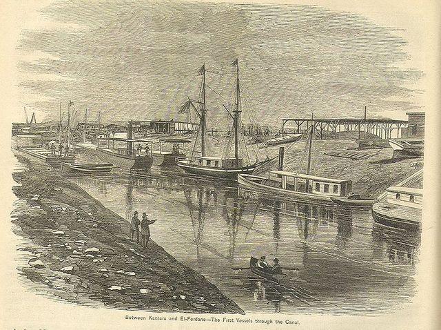 Le canal de Suez entre Kantara et El-Fedan, 19e siècle