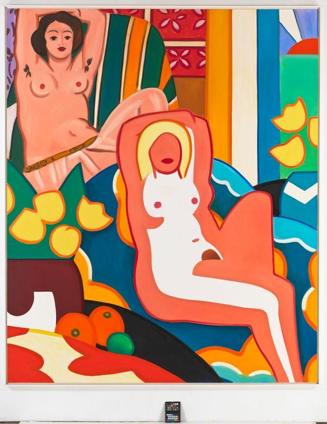 T. Wesselmann, Nu au soleil couchant avec Odalisque de Matisse, 2003
