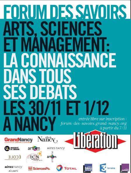 Affiche Forum des savoirs Nancy