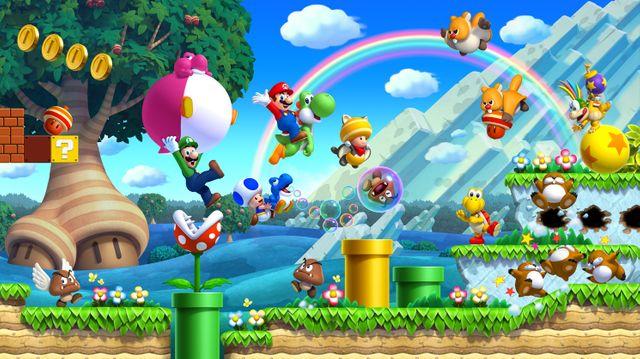 New Super Mario Bros. U un des titres du cataloge de la Wii U