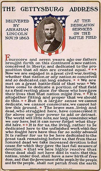 L'adresse de Gettysburg