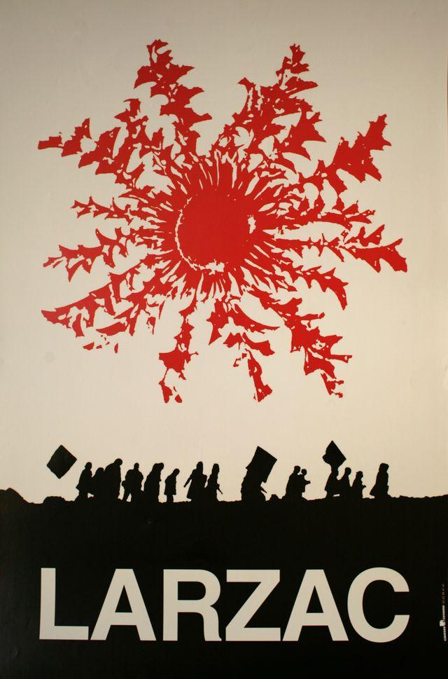 Affiche du mouvement de la lutte du Larzac