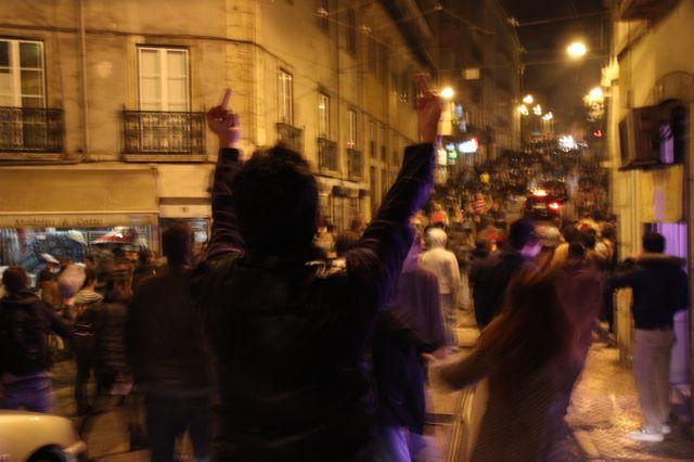 Face à face entre police et manifestants