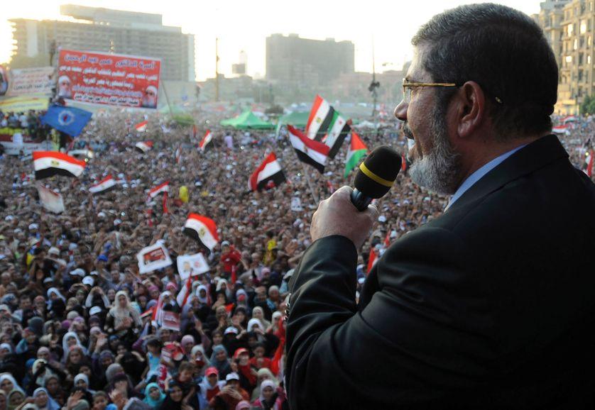 Discours Président Islamiste Mursi place Tahrir