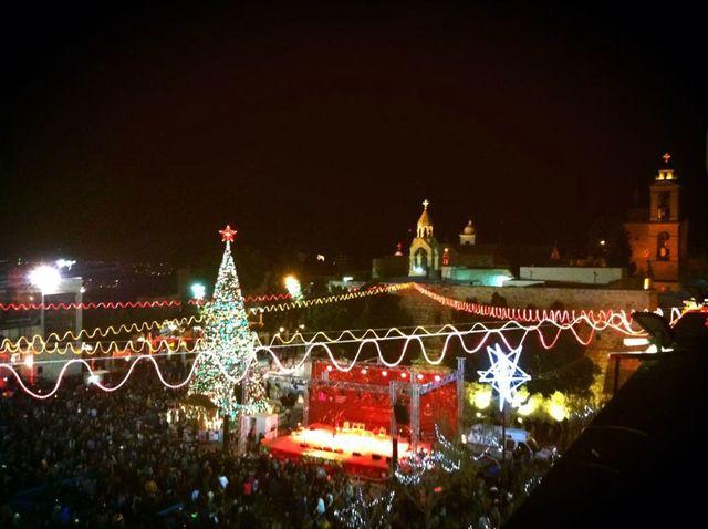 Bethléem, la grande place devant la Basilique de la Nativité