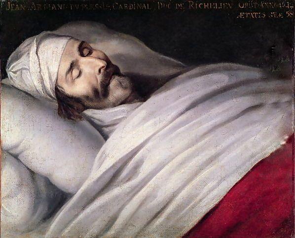 Le Cardinal de Richelieu sur son lit de mort