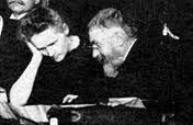 1er Conseil Solvay (1911) - M. Curie et H. Poincaré