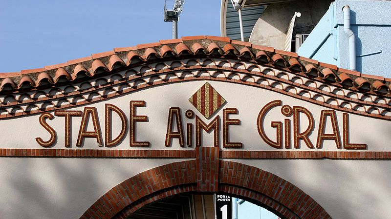 Le stade Aimé Giral à Perpignan
