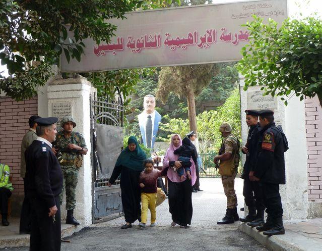Premier jour de vote dans un quartier huppé du centre-ville du Caire
