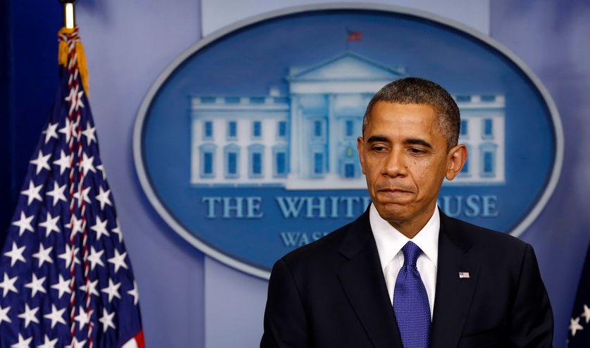 le Président Barack Obama lors de la conférence sur fiscal cliff à la Maison Blanche à Washington