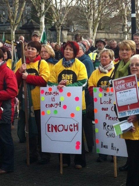 Manif contre l'austérité à Dublin