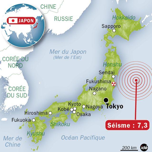 Alerte tsunami au large des côtes japonaises