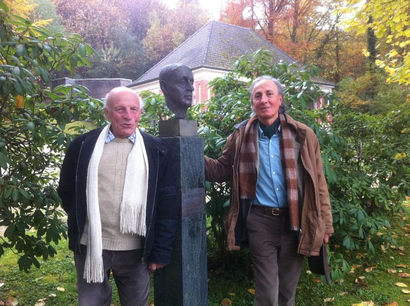 Pierre Cartier et Thibaut Damour, IHES, 2012
