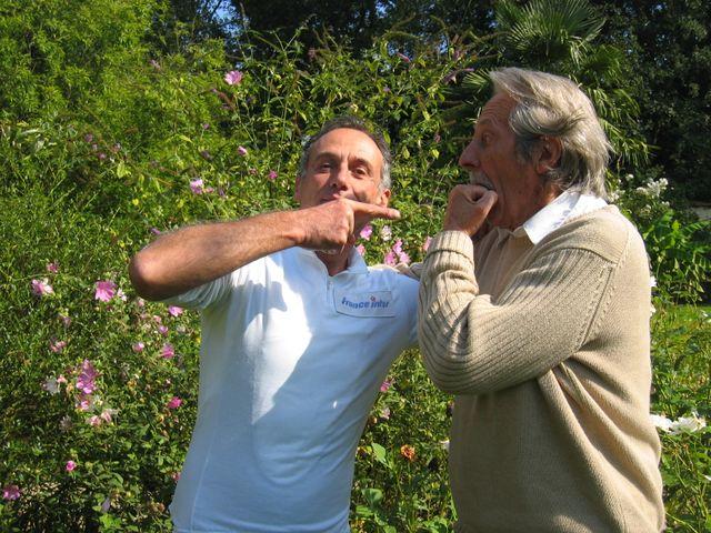 Denis Cheissoux et Jean Rochefort ; photographie de Denis Cheissoux