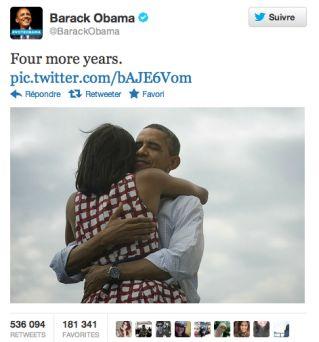 Le message le plus retweeté de l'année 2012