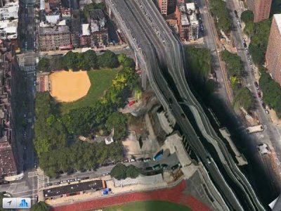 Le pont de Manhattan dans ios Map