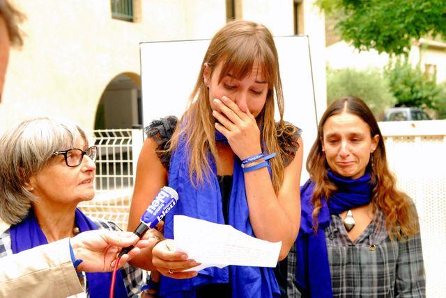 Françoise larribe, la femme d'un des otages d'Acqmi et des deux filles