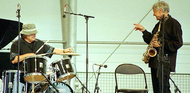 Bernard Lubat et Michel Portal sur scène