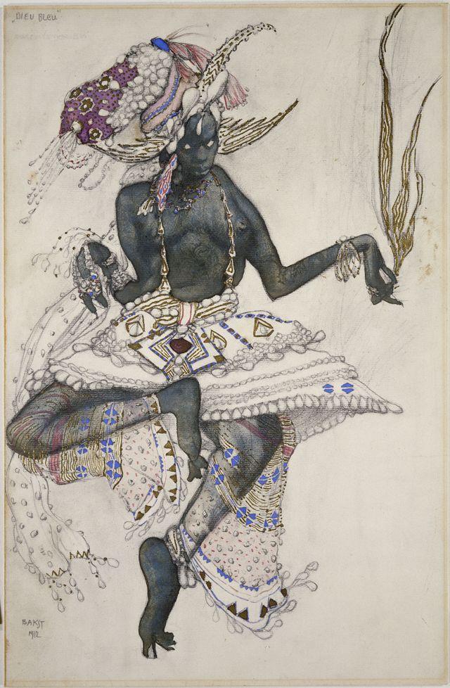 1001 nuits, Dessin de costume pour la danse sacrée du Diable Bleu (17)