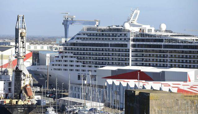 Les chantiers navals effectuent actuellement les finitions sur deux paquebots