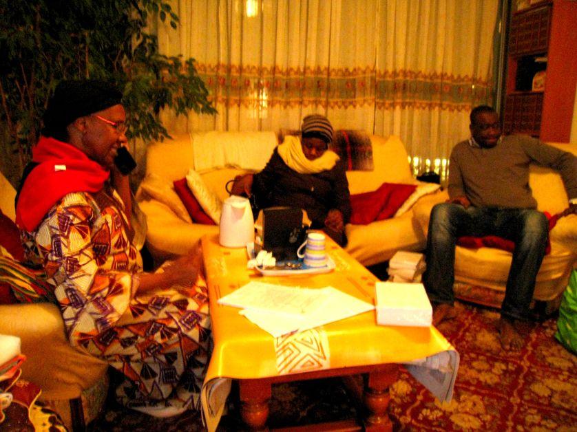 Ramata Coulibaly avec sa famille