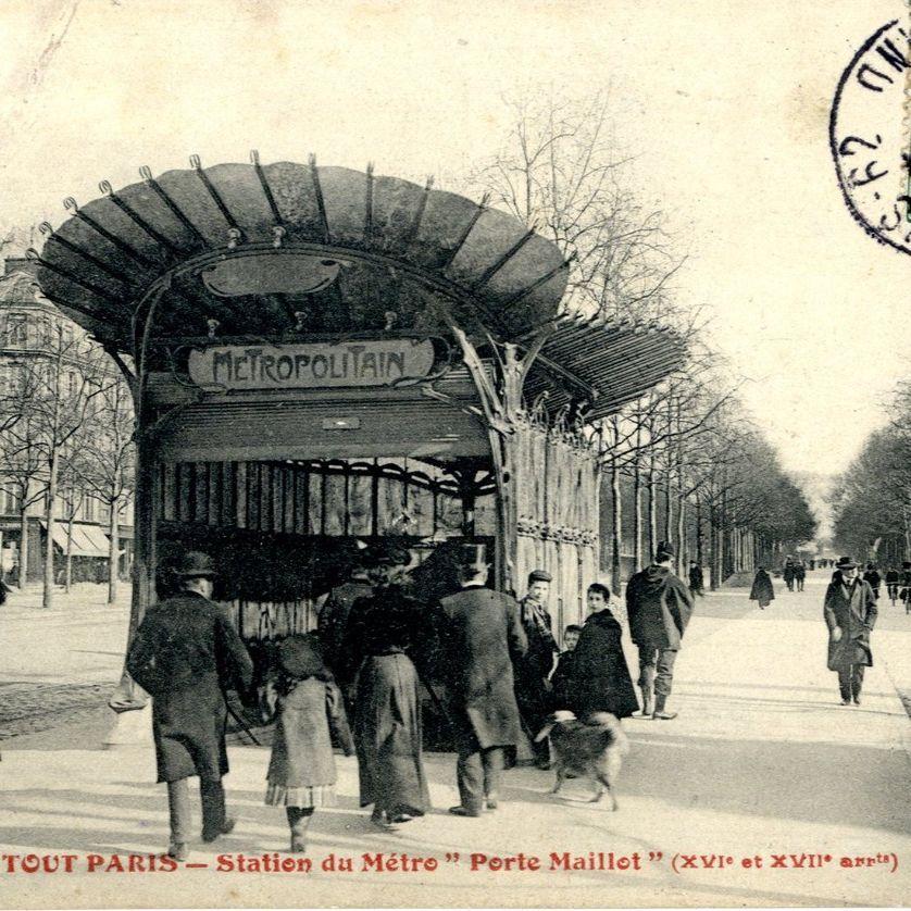Entrée de métro Porte Maillot