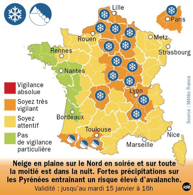 37 départements en vigilance orange