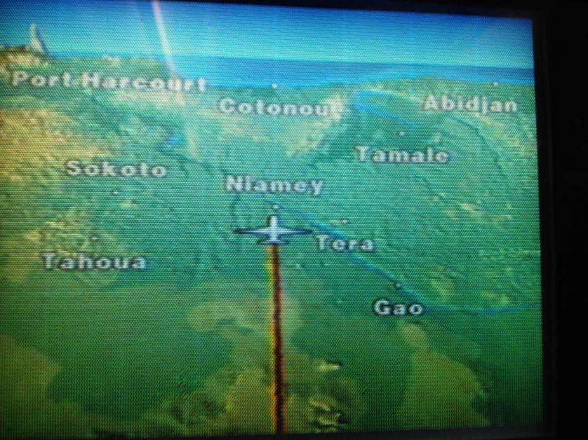 Arrivée à Cotonou, dans l'avion...