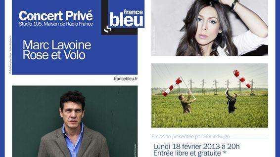 Marc Lavoine, Rose et Volo en Concert Privé