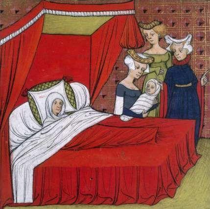 Naissance de Louis VIII - Grandes Chroniques de France - XIVe-XVe siècle