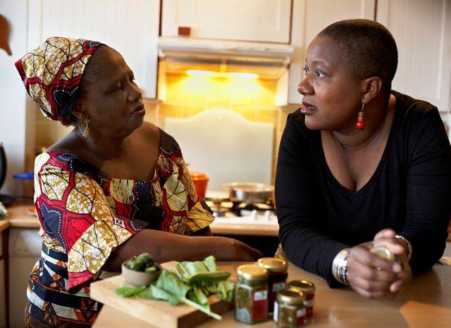 Lolita N'Sondé et sa maman