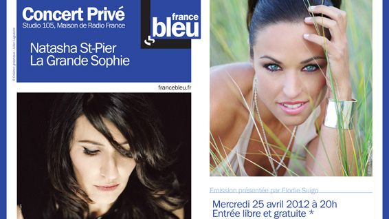 Affiche Concert Privé France Bleu avec Natasha St-Pier et La Grande Sophie