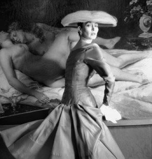 Henry Clarke, 1955 Robe de Jacques Heim printemps-été 1955 Mannequin Dorian Leigh