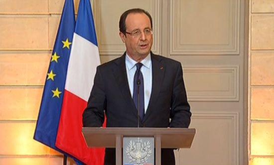François Hollande a brièvement confirmé l'appui militaire français