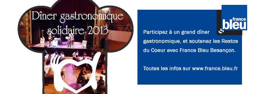 Dîner Gastronomique Solidaire 2013