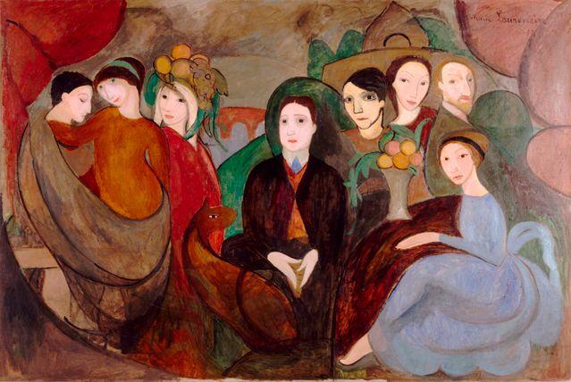Marie Laurencin, Apollinaire et ses amis (2ème version) - Musée National d'Art Moderne, Centre Georges Pompidou Paris