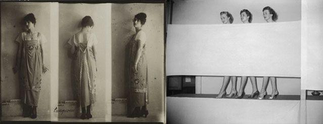 Anonyme, 1917 Modèle de chez Paquin - Anonyme, 1954 Présentation de chaussures pour femmes