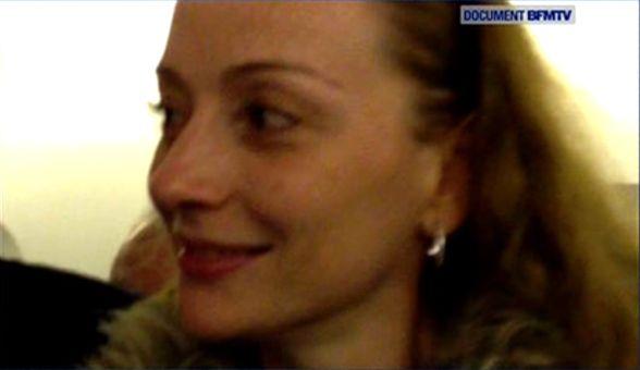 Florence Cassez à son arrivée à l'aéroport de Mexico