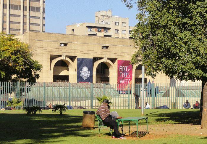 la Johannesburg Art Gallery vue de Joubert Park, centre-ville de Johannesburg