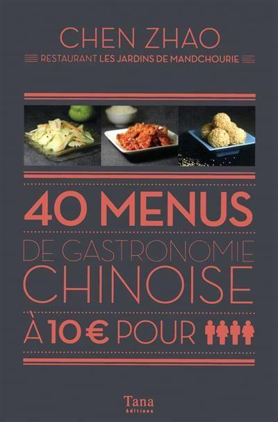livre 40 menus