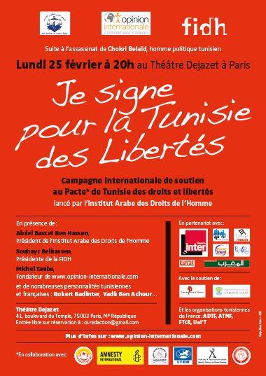 Je signe pour la Tunisie des Libertés