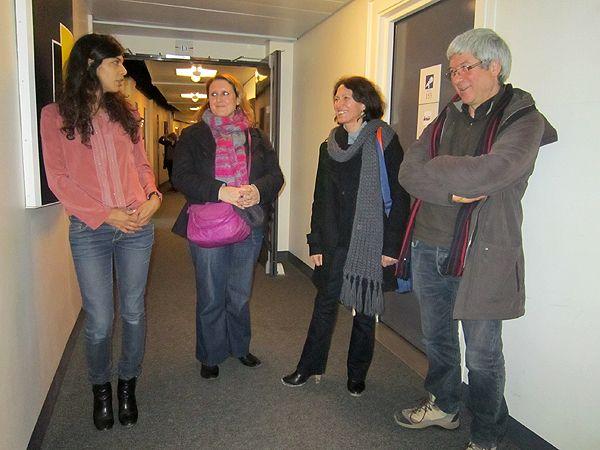 Louise Tourret, Sabine Duran, Monique Deperne et Gérald Ascargorta