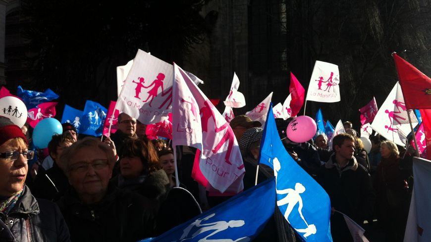 Lors de la manif pour tous à Bordeaux, en février 2013
