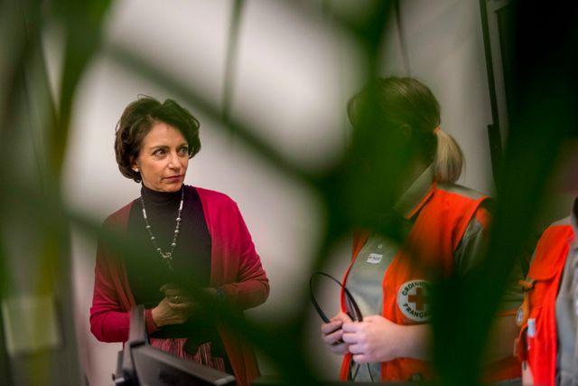 Marisol Touraine en visite à l'hôpital de Bobigny, le 31 décembre 2012