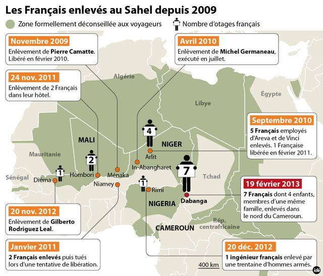 Sept français enlevés