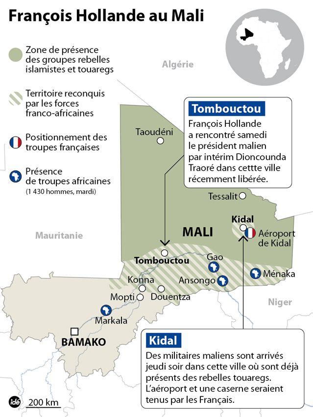Situation au Mali pour la visite de François Hollande