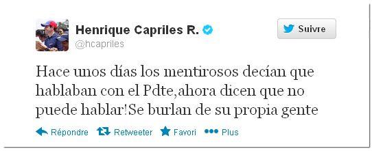 tweet de Capriles