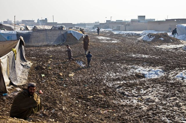Camp à Kaboul, Afghanistan