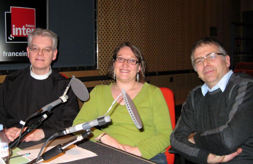 Les pasteurs Alain Joly, Marianne Guéroult, Pascal Hubscher,